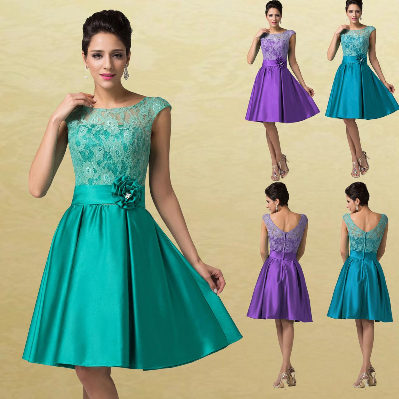 Rockabilly Bridesmaid Dresses Yellow