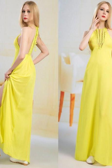 Boho Women Summer Casual Sleeveless Evening Party Beach Long Maxi Dress