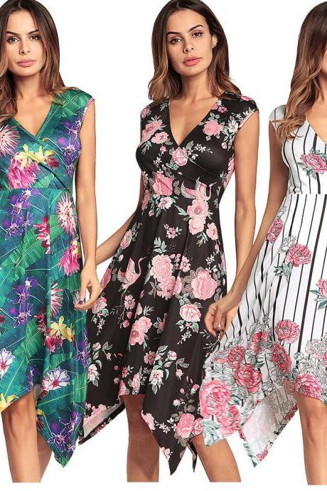 Summer Boho Floral Long Maxi Evening Cocktail Party Beach Dress Sundress