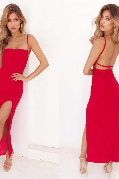 Sexy Bandage Bodycon Sleeveless Evening Party Cocktail Clubwear Midi Dress