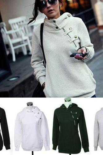 New Women Long Sleeve Hoodie Sweatshirt Sweater Casual Hooded Coat Pullover