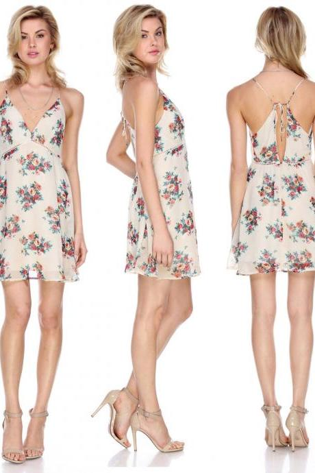 Summer Women Sexy Evening Cocktail Beach Casual Mini Floral Party Short Dress