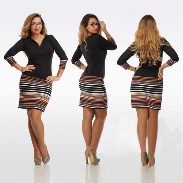 Sexy Women Casual Long Sleeve Evening Party Cocktail Short Mini Bodycon Dress